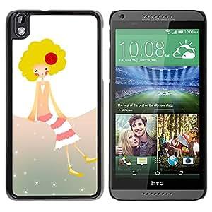 Missy Cheeky! - Metal de aluminio y de plástico duro Caja del teléfono - Negro - HTC DESIRE 816