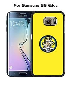 Brand Logo Valentino Rossi Logo Galaxy S6 Edge Funda Case - Ultra Thin Tough Protecive Drop Resistant Plastic Anti Slip Funda Case cover for Samsung Galaxy S6 Edge (Not for S6 / S6 Edge Plus)