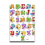 Alphabet Kids Teachers Home Poster Interesting Poster Wall Home Decor Kid Use
