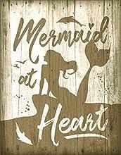 "Desperate Enterprises Mermaid at Heart Tin Sign, 12.5"" W x 16"" H"