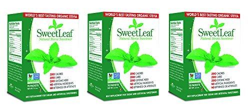 SweetLeaf Natural Stevia Sweetener, 70 Count (3 Pack)