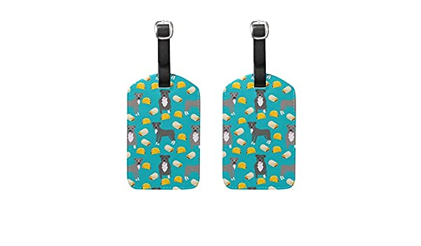 Taco Travel Tags For Suitcase Bag Accessories 2 Pack Luggage Tags