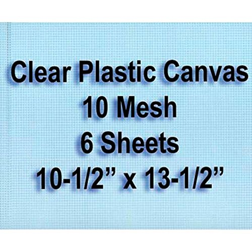 Herrschners 10-Mesh Clear Plastic Canvas Sheets, Set of 6