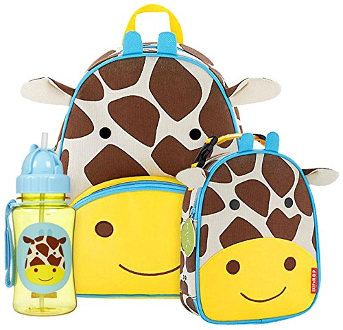 Skip Hop Zoo Backpack, Lunchie and Straw Bottle Set, Jule...
