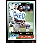 efee64727 1981 Topps # 100 Billy Sims Detroit Lions (Football Card) Dean's Cards 6 -.