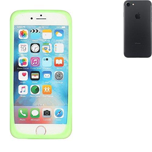 Silikonbumper / Bumper aus TPU für Apple iPhone 7, Grün   Schutzrahmen Schutzring für Smartphone Case Hülle Schutzhülle - K-S-Trade (TM) (Wir zahlen Steuern in Deutschland!)