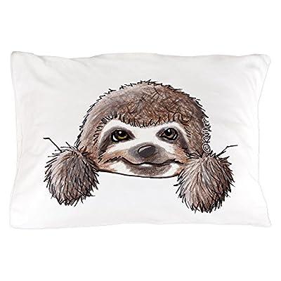 Cafepress Kiniart Pocket Sloth Standard Size Pillow Case, 20&Quot;X30&Quot; Pillow Cover, Unique Pillow Slip - Cafepress