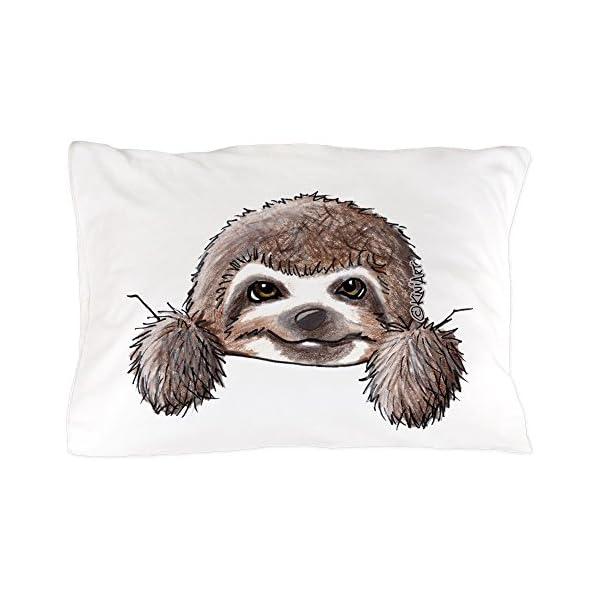 Cafepress Kiniart Pocket Sloth Standard Size Pillow Case, 20&Quot;X30&Quot; Pillow Cover, Unique Pillow Slip -