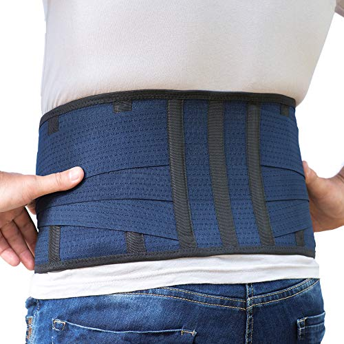Back Support Lower Back Brace Provides Back Pain Relief - Breathable Lumbar Support Belt for Men and Women Keeps Your Spine Straight and Safe - Medium Size 32''- 37 at Navel Level
