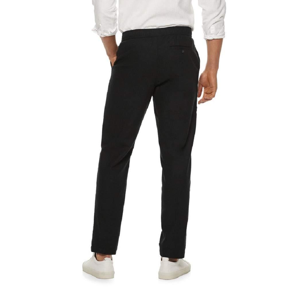 6d09cf29 Marc Anthony Men's Slim-Fit Linen-Blend Pants at Amazon Men's Clothing  store: