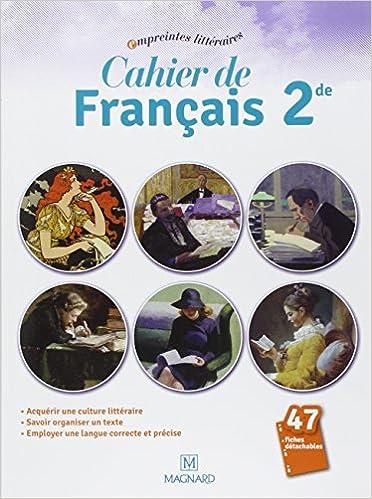 Amazon Fr Cahier De Francais 2e Florence Randanne