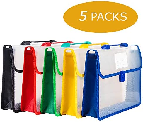 File Folders Document Organizer Letter Size,Expanding File Organizer 5 Packs for Office and School Supplies