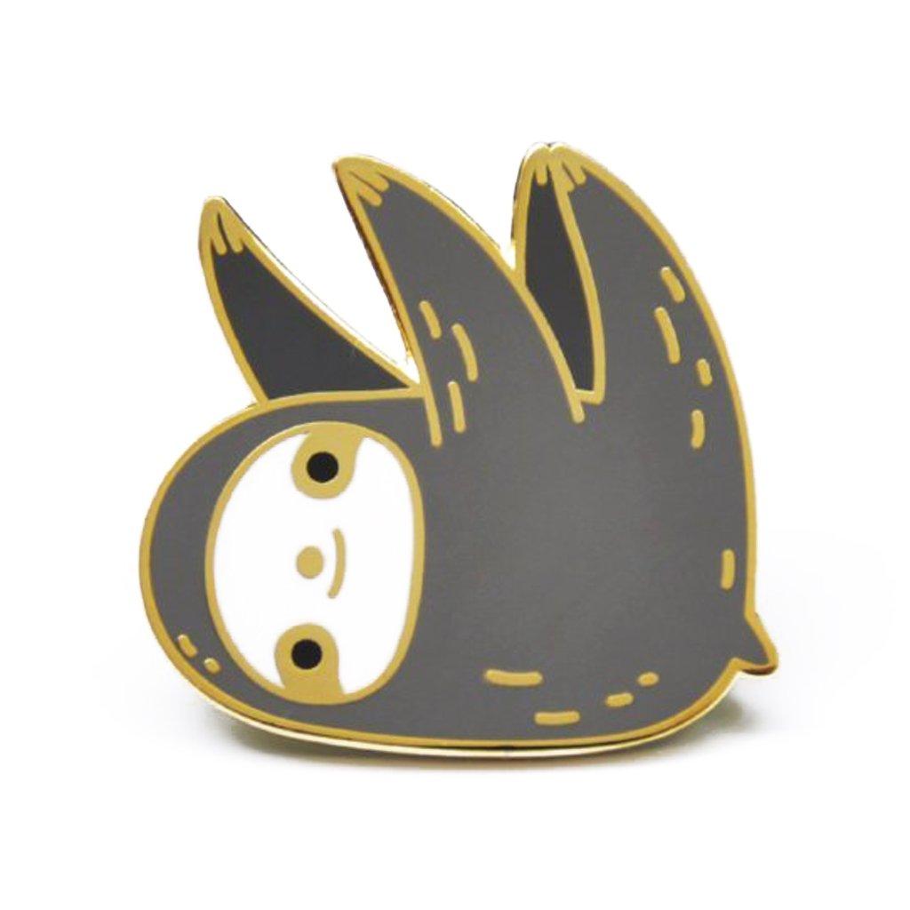 Noristudio 18K Gold Plated Sloth Enamel Pin (Dark Gray)