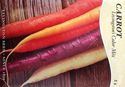 Livingston's Color Mix Carrot Seeds - 2 grams