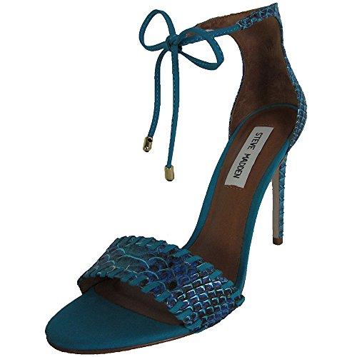 Steve Madden Womens Salllie High Heel Sandal Shoes, Turqu...