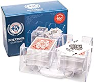 Brybelly Elite 6-Deck Rotating Card Tray - Improved Smooth 360 Degree Swivel - Convenient Playing Card Holder