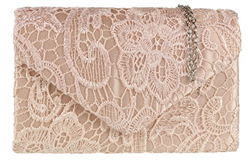 Cha ne Sac Pochette HandBags Dentelle Satin D' Girly 1pAaq1