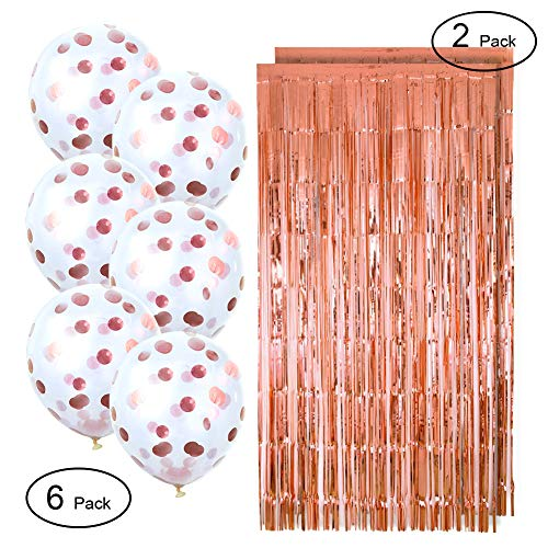 Metallic Photo Booth Tinsel Backdrop Door Curtains Bachelorette Party Confetti Balloons Christmas & New Years Eve Party Decorations Weddings -