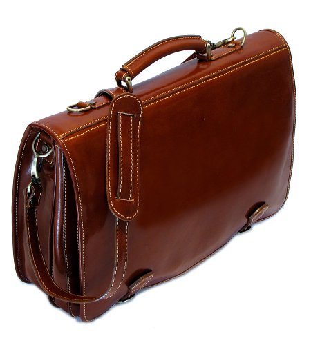 Cenzo Italian Leather Messenger Bag by Cenzo