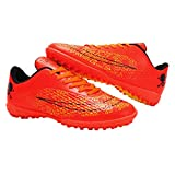 iFANS Men Athletic Outdoor/Indoor Comfortable Soccer Shoes Boys Football Student Cleats Sneaker Shoes