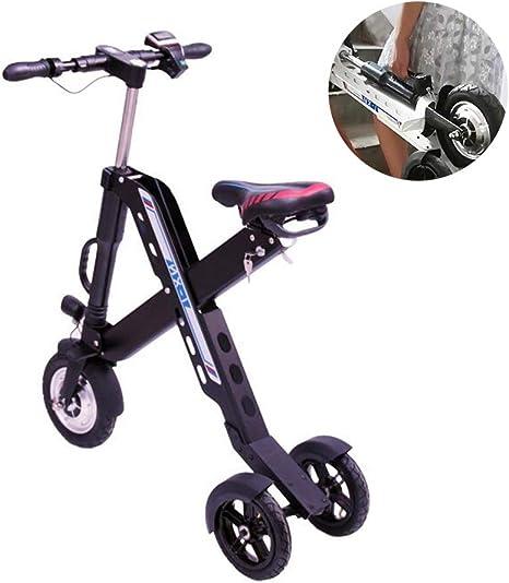 ZZQ Bicicleta eléctrica Plegable, Bicicleta eléctrica Ligera de 36 ...