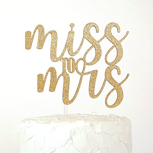 NANASUKO Bachelorette Party Cake Topper - Miss to Mrs - Premium quality Made in USA