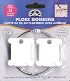 DMC 6105 Plastic Floss Bobbins with Rings