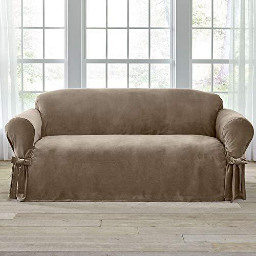 BrylaneHome Velvet Sofa Slipcover