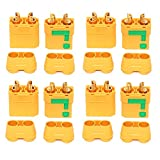 #8: Amass Anti-Spark XT90S XT90-S XT90 Connector Male Female Adapater for Battery ESC and Charger Lead for RC Car Truck Drone Quadcopter Brushless Motor FPV Battery (4 Pairs)