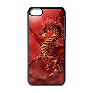 QNMLGB Hard Plastic of Red Dragon Cover Phone Case For Iphone 4 4s [Pattern-1]