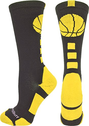 MadSportsStuff Basketball Logo Athletic Crew Socks, Large - ()