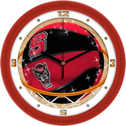 (SunTime NCAA North Carolina State Wolfpack Slam Dunk Wall Clock)