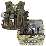 Kids Combat Vest Play Set - Fully Loaded Combat Vest - Fits Ages 5-13