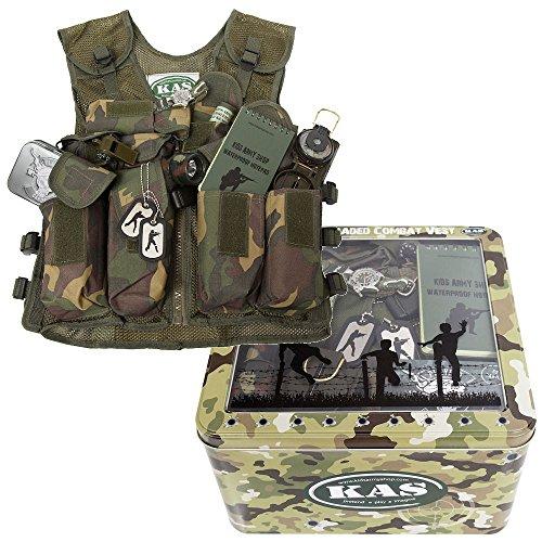 Kids Combat Vest Play Set - Fully Loaded Combat Vest - Fits Ages 5-13 by KAS