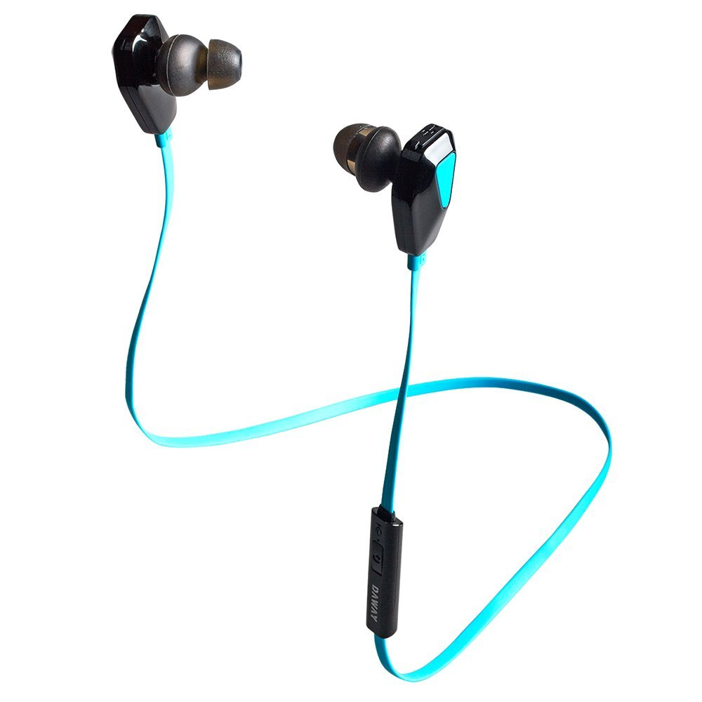 Blue Wireless Bluetooth Headphones Earphones with Microphone Gym Exercise Sports Sweatproof Earbuds for Apple Watch iPhone 6, 6 Plus, 4s,iPad Air and Other Bluetooth Devices
