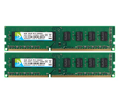 4GB) DDR3 1333MHz 2RX8 PC3-10600 240pin CL9 DIMM Memory 1.5v Desktop RAM Module (Dimm Memory Cover)