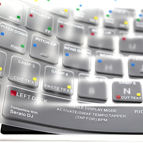Serato Keyboard Shortcuts - HRH Serato DJ Hotkey Shortcuts Keyboard Cover Backlight TPU Skin for MacBook Air 13 and MacBook Pro 13 15 17(with or w/out Retina,Not Fit 2016 Macbook Pro 13 15 with/without Touch Bar) US Layout