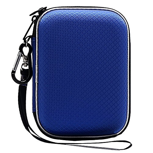 Lacdo EVA Shockproof Carrying Case for Western Digital My Passport Studio Ultra Slim Essential WD Elements SE 1TB 2TB 4TB 5TB USB 3.0 Portable External Hard Drive Travel Case Storage, Large Size Blue ()