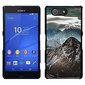 // PHONE CASE GIFT // Duro Estuche protector PC Cáscara Plástico Carcasa Funda Hard Protective Case for Sony Xperia Z3 Compact / Montaña Nevada del Himalaya /
