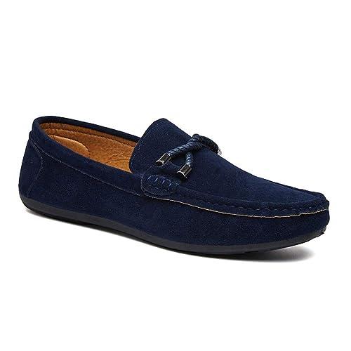 Gtagain Casual Slip On Flat Zapatos Hombre - Hombres Cuero Resbalón Zapatillas Mocasín Mocasines Alpargatas Deportes Running Naúticos Tenis Penny Loafers ...