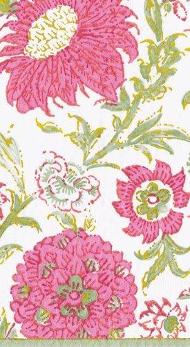 Caspari Fingertip Towels Paper Hand Towels Beach Wedding Baby Shower Bridal Shower Pink Indiennes Pk 15