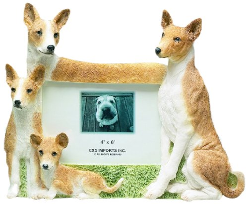 Basenji Picture Frame Holds Your Favorite 3 x 5 Inch Photo,  A Hand Painted Realistic Looking Basenji Family Surrounding  Your Photo. This Beautifully Crafted Frame is A Unique - Pictures Handcrafted