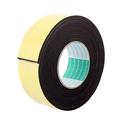 Uxcell a16070100ux0585 Single Sided Sponge Tape Adhesive Sticker Foam Glue Strip Sealing, 50 mm x 4 mm, 10' (Foam Sided Single)