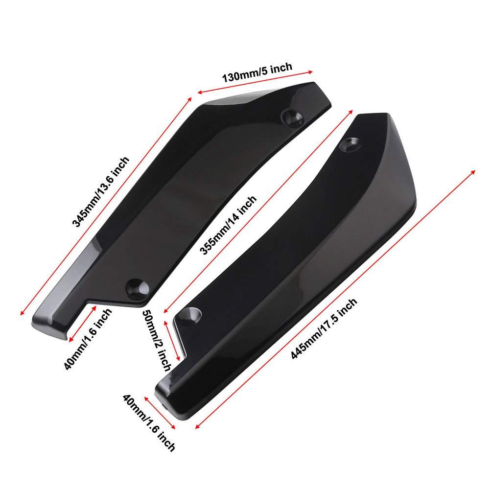 f/ür Hecksto/ßstange Sto/ßstange Diffusor Winkelsplitterschutz Alicer 2 x Universal-Auto-Lippenspoiler