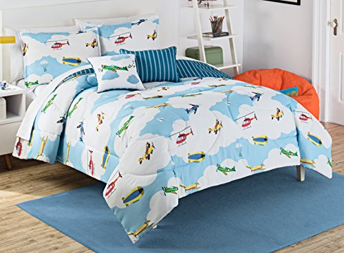 waverly-kids-16443beddtwnblu-in-the-clouds-comforter-setbluetwin