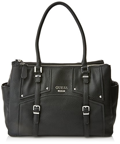 GUESS Women's Rikki Status Satchel Black One Size by GUESS