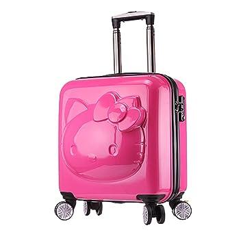 shan Maleta Trolley Caja De Trolley Infantil Caja De Bebé Caricatura PequeñA Maleta Masculina Rueda Universal Rosa Roja: Amazon.es: Hogar