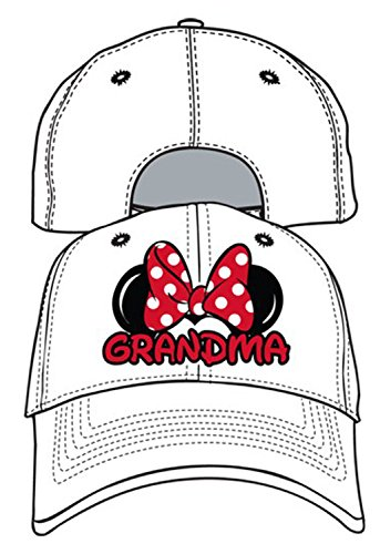 (Disney Adult Hat Grandma Fan White)