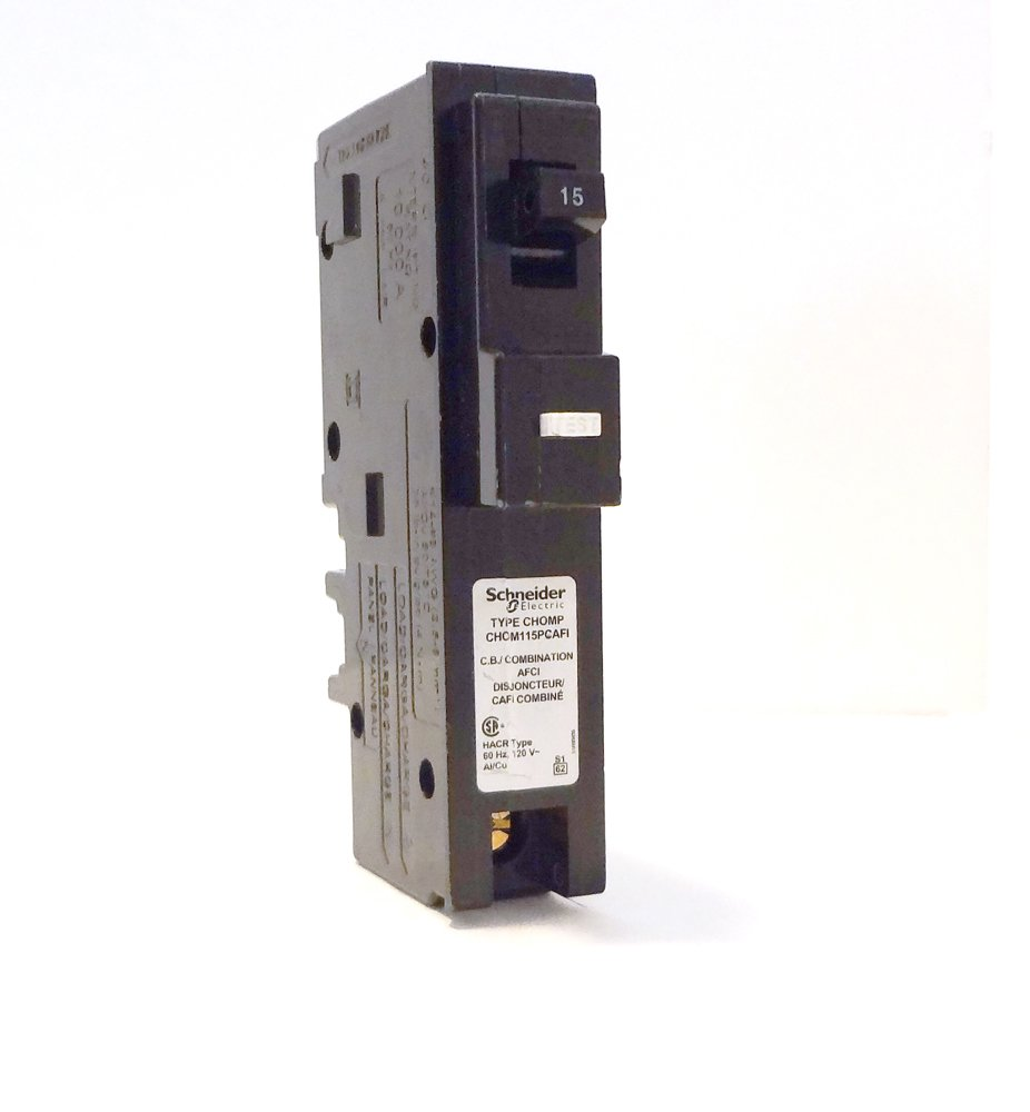 Schneider Electric Chom115pcafi Homeline Single Pole 15 Amp Afci Receptacle Wiring Diagram Combination Arc Fault Plug On Circuit Breaker Black Cables Amazon Canada