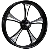 """RC Components Clutch Eclipse 23"""" Front and Rear Wheel Tire Package for 2000-2007 Harley-Davidson Touring models - RCWP23-07-CLUTCH-E"""